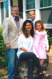 Brent and Kristin with their kids in 2011, shortly after deciding to leave Hallmark