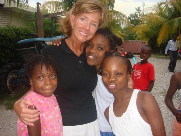 Beth and friends in Haiti