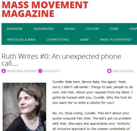 Mass Movement - Ruth Writes #0: An unexpected phone call...