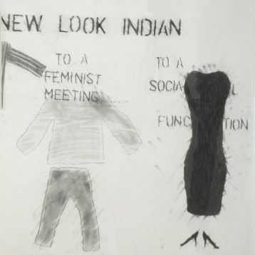 Living-Post-Oka-Kind-of-Woman (panel 8), 1990 graphite on paper 101.6 x 71.2 cm Collection of the MacKenzie Art Gallery