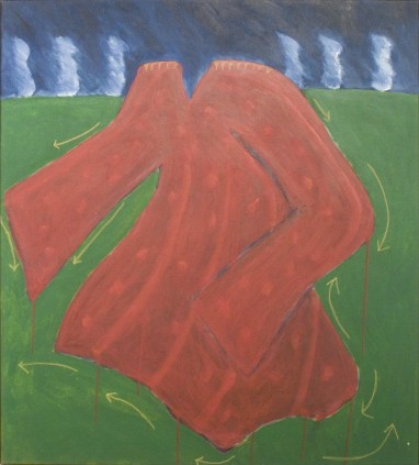 She Chose to Dance Instead of Putting Peas in her Shoes, 1983 acrylic on canvas 121.0 x 110.0 cm Collection of Indian and Northern Affairs Canada