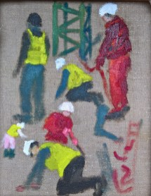 Workmen sketch 2 - Art by Ruth Helen Smith