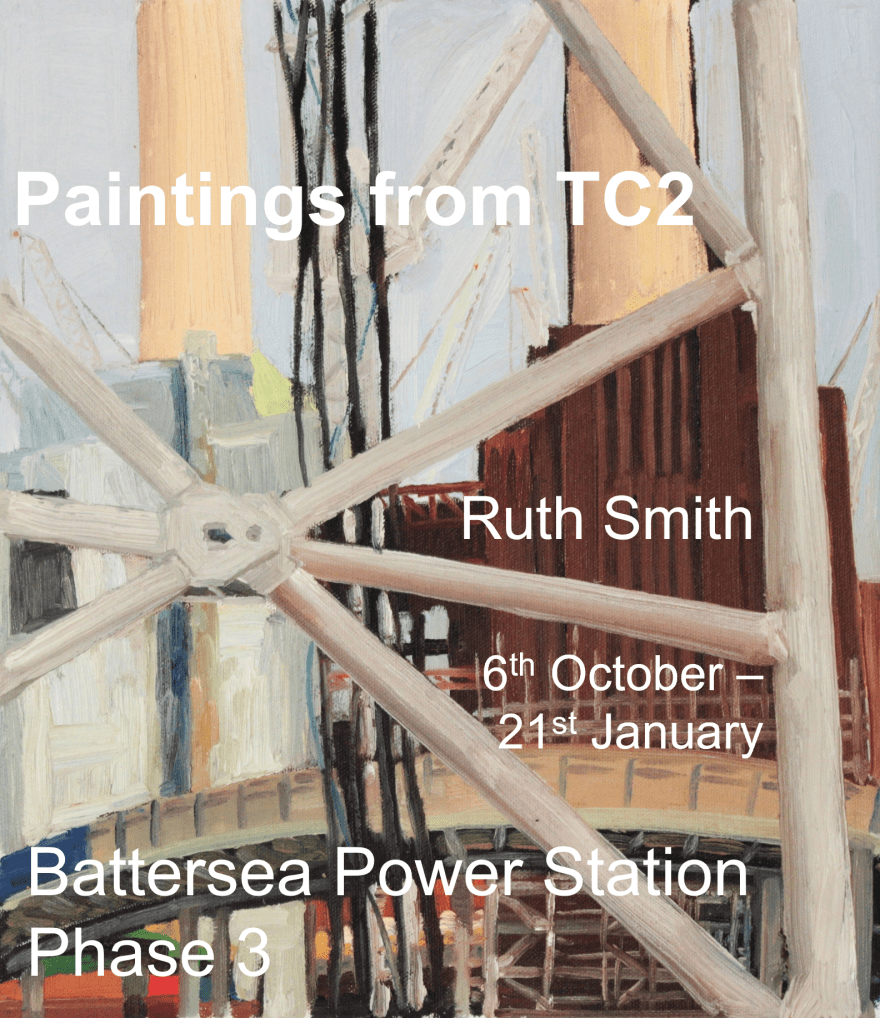 Flyer for an exhibition by Ruth Helen Smith at Battersea Power Station