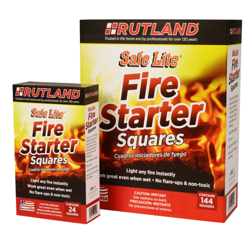 50B and 50C RUTLAND Safe Lite® Fire Starter Squares