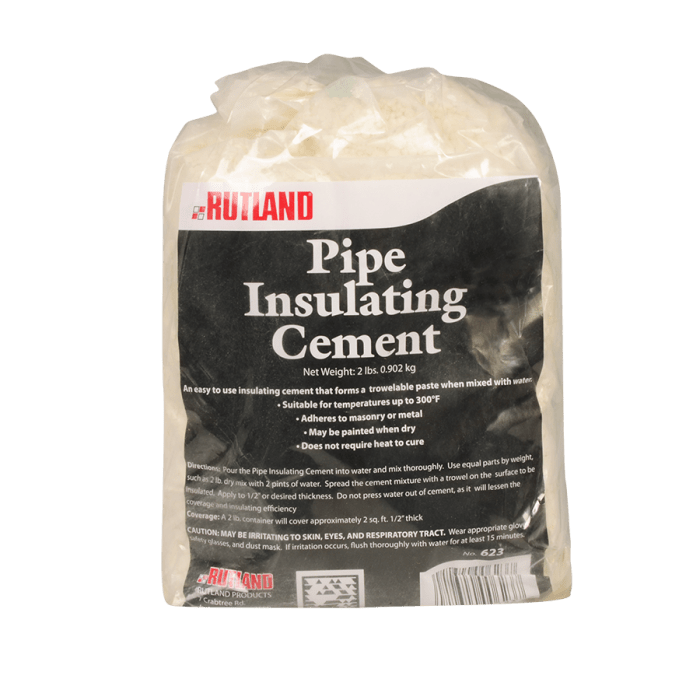 RUTLAND® Pipe Insulating Cement