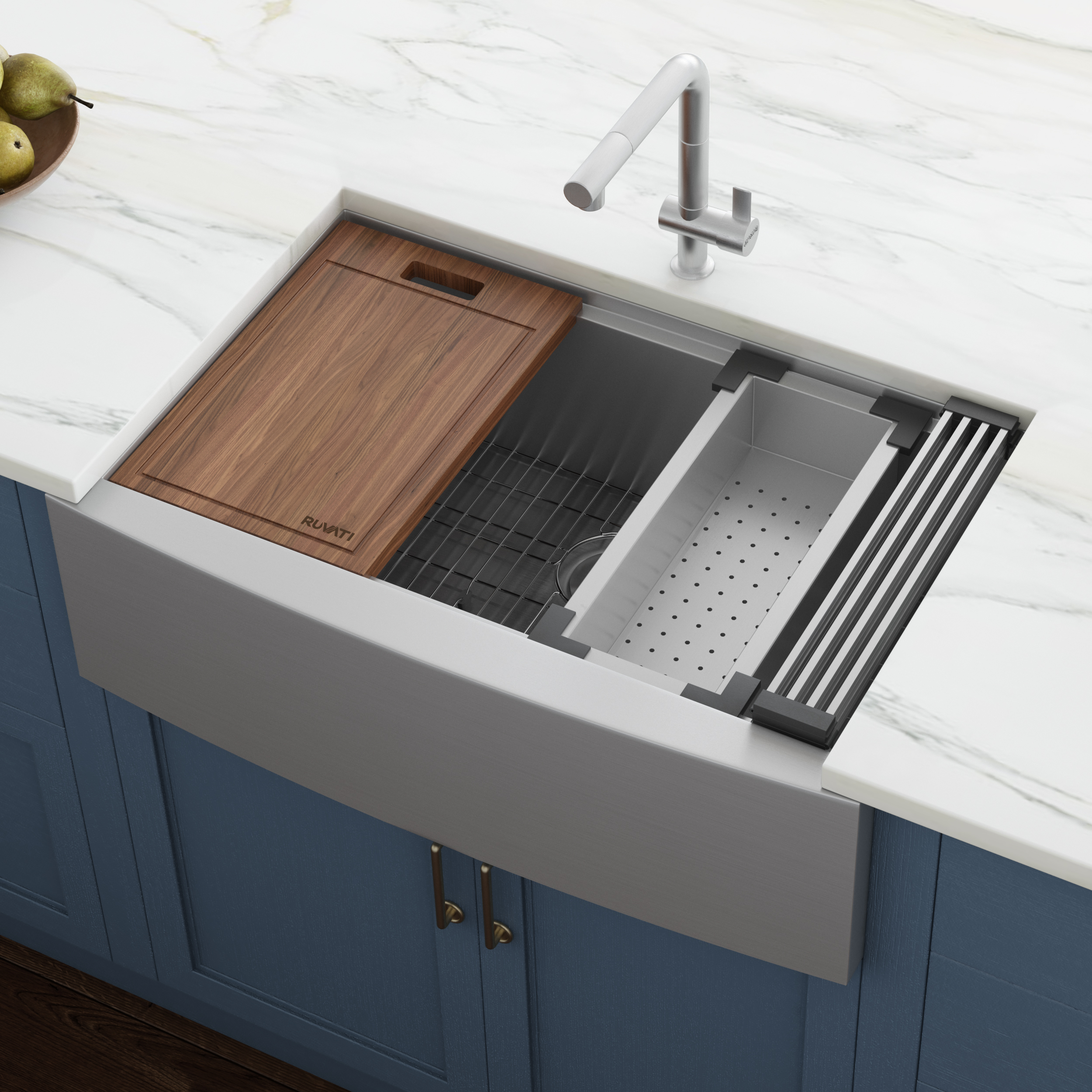33 inch apron front workstation