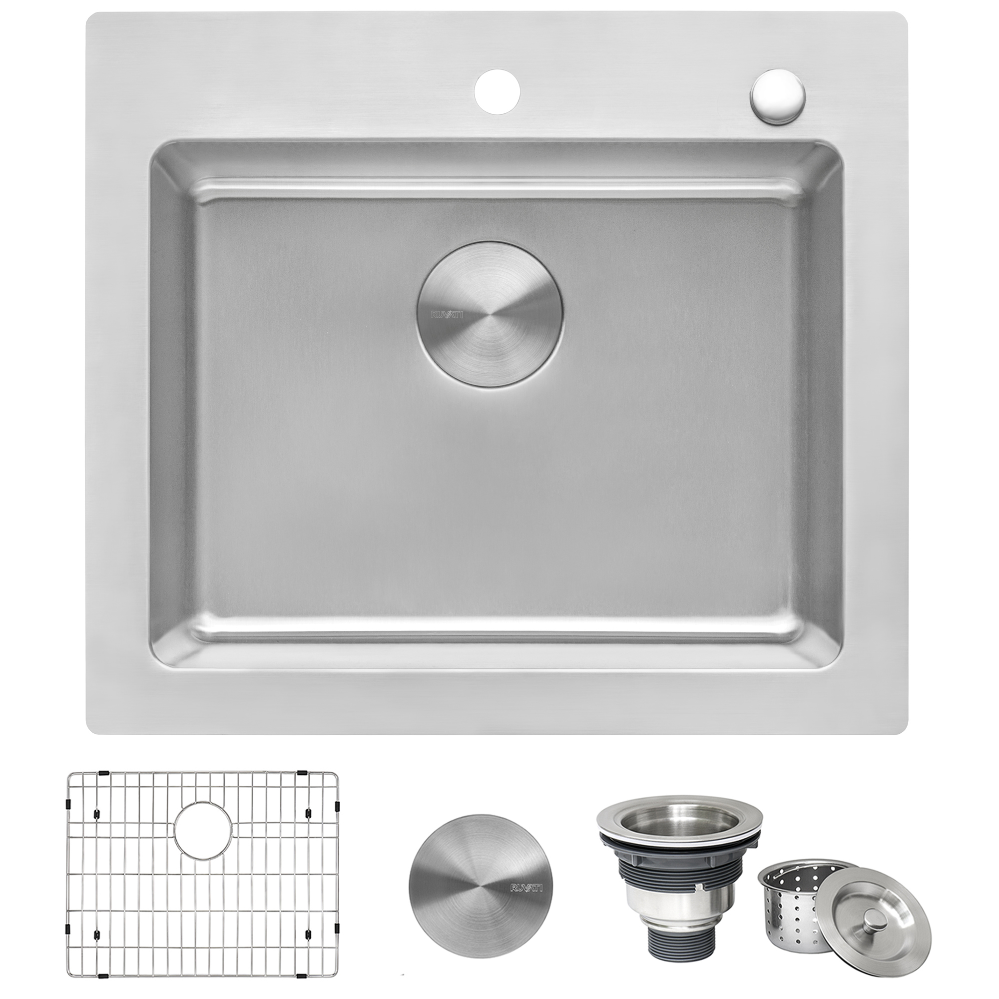 25 x 22 inch drop in topmount kitchen