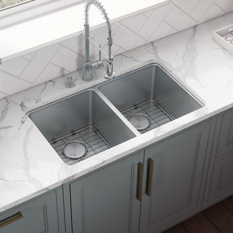 28 inch undermount kitchen sink 50 50