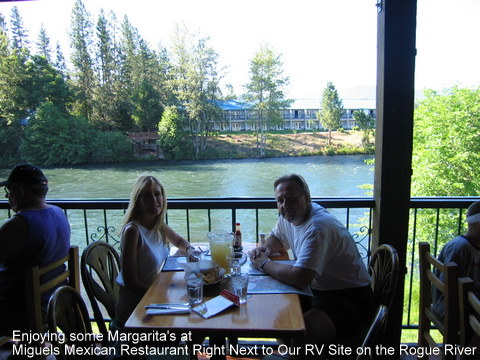 rogue river,oregon,rv,camping,mexican restaurant,shady cove,margarita