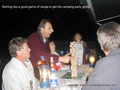 camping games,rv games,jenga,rv fun