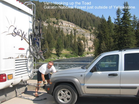 rv camping checklist, tow vehicle