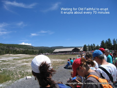 yellowstone,old faithful,rv camping