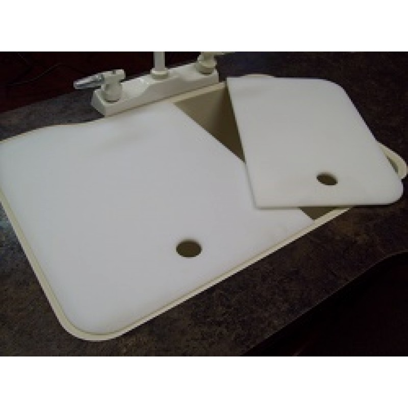 19 x 25 60 40 kitchen sink covers creme