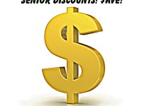 Senior discounts at many restaurants