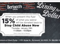 Bertucci's Donates 15% of What You Spend to SCAN