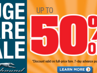 Get on the Greyhound for 50% off Fares
