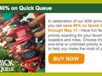 40th Anniversary Savings at Busch Gardens