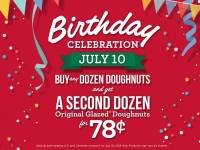Celebrate Krispy Kreme's Birthday on July 10th