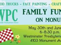 WPC Family Fun Night on Monument June 27th