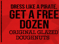 FREE Krispy Kreme Doughnuts September 19th