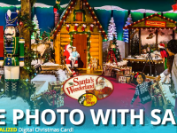 Free photo with Santa and free family fun