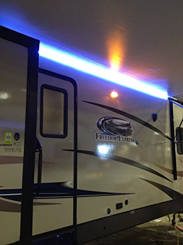 New RV Camper Motorhome Travel Trailer 16u0027 WHITE LED Awning Party Light  W/Mounting