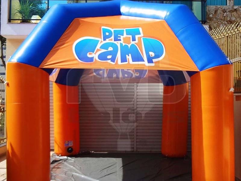 Tenda Inflável Promocional para Eventos - Pet Camp