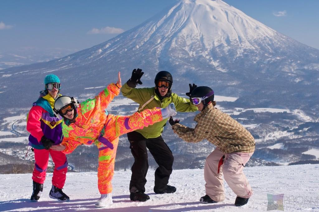 Niseko Hirafu Mt. Yotei 80's Fluro
