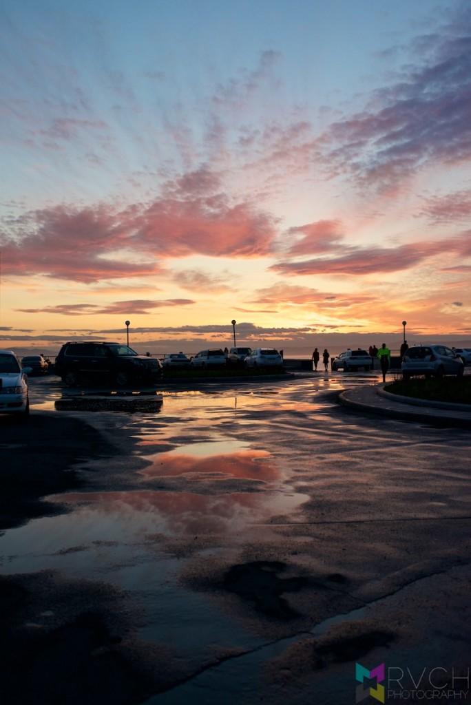 Vladivostok Carpark Sunset