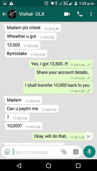 "How this ""Girl Saved her money from an OLX online fraudster"