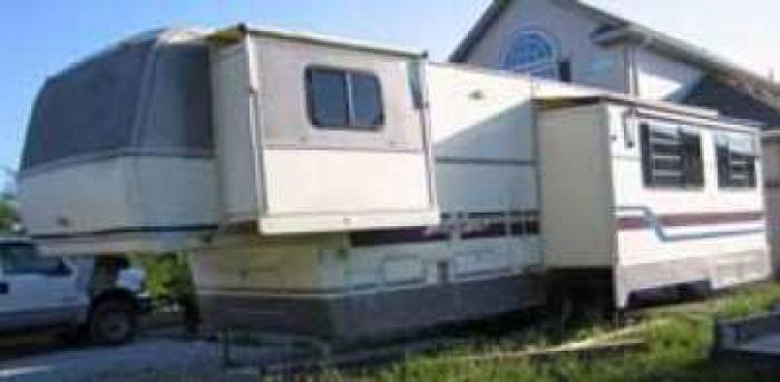 THIS ITEM HAS BEEN SOLDRecreational Vehicles Fifth Wheel Trailers 1995 Alfa Gold Located In