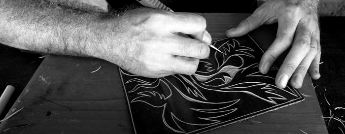 linoleum cut, workshop # 04
