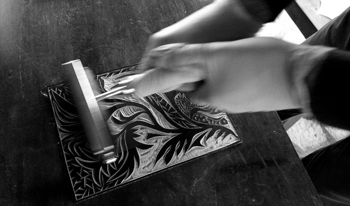 linoleum cut, workshop # 13