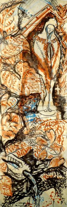 ink painting - Vierge de la Fonte # 26