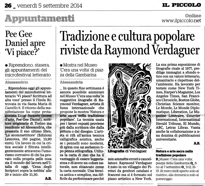 IL PICCOLO 5.9.2014