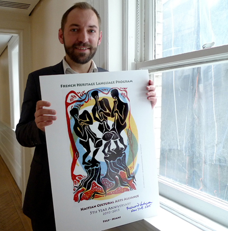 Benoit le Devedec and the 'trompetistes' poster