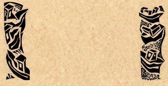 Linoleum dimensions, 5x15 cm