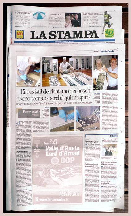 La Stampa - page copy