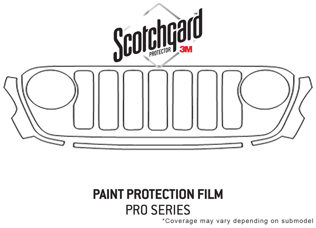 3m Pro Shield Paint Protection Kit For Jeep Gladiator