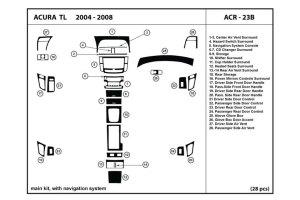 2007 Acura TL Dash Kits | Custom 2007 Acura TL Dash Kit