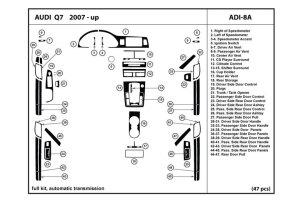 DL Auto® Audi Q7 20072013 Dash Kits