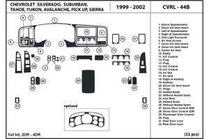 2001 Chevrolet Silverado Dash Kits | Custom 2001 Chevrolet