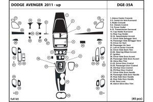 DL Auto® Dodge Avenger 20112013 Dash Kits