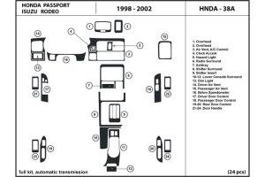 DL Auto® Isuzu Rodeo 19982002 Dash Kits