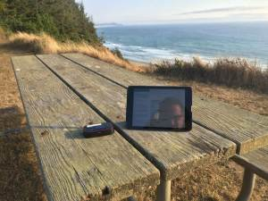 """The scenic cliff-side """"Cape Blanco Phone Booth"""""""
