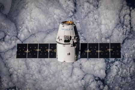 CRS-5 Dragon in Orbit