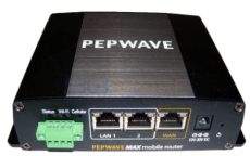 The Pepwave MAX BR1 - can hold two SIM cards.