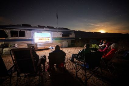 Using HDMI-out from an iPad or other device lets you share your streaming content on any big screen - including using a projector to host an outdoor movie night!