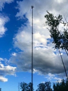 Thanks to the curvature of the earth, even the tallest cell towers are essentially impossible to see more than 20 miles away.