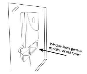 The Pole Mount Panel Antenna included with the Home 4G can be suction cup mounted to a window.